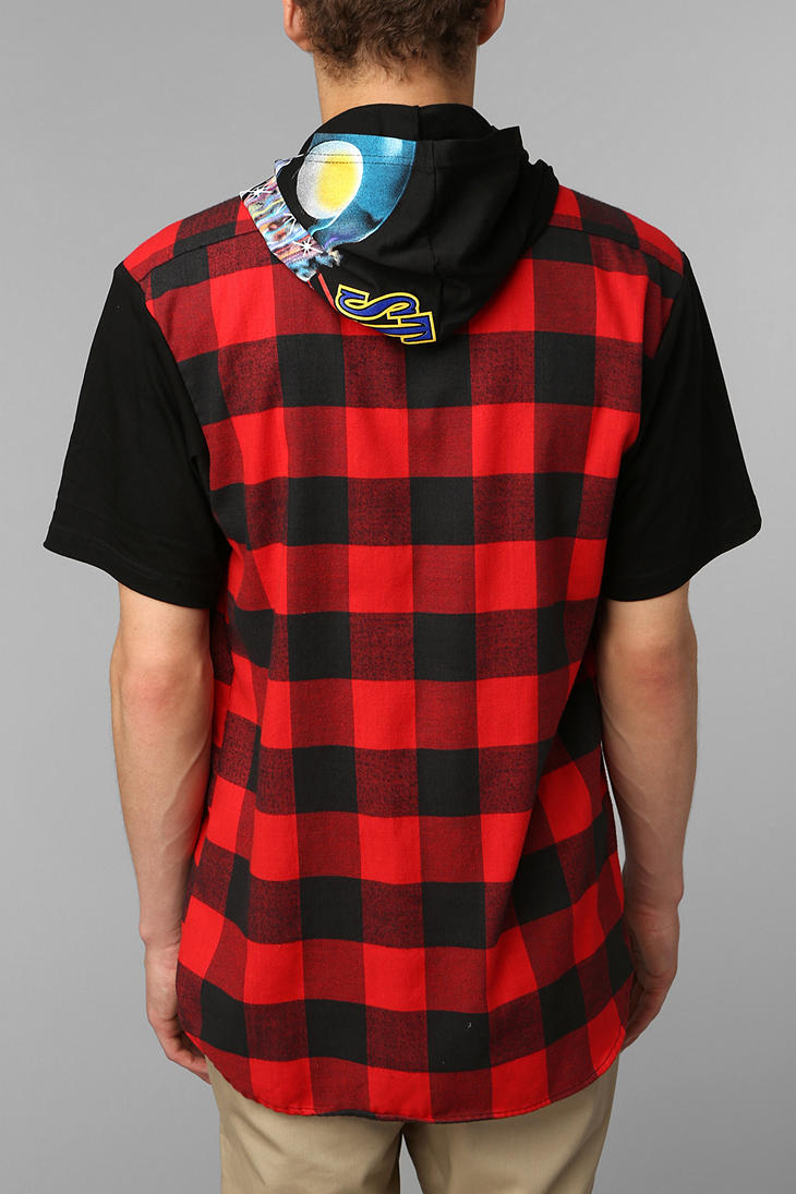 Lyst Urban Outfitters Faif X Urban Renewal Short Sleeve Hooded