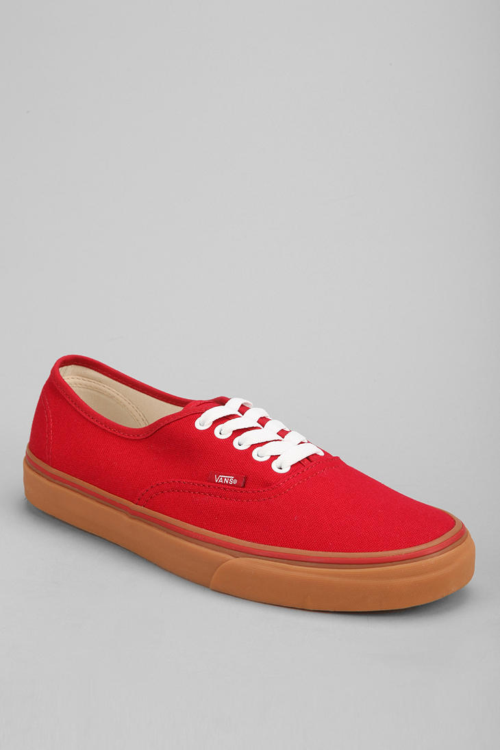 a2310213343cef Lyst - Vans Authentic Gum Sole Sneaker in Red for Men