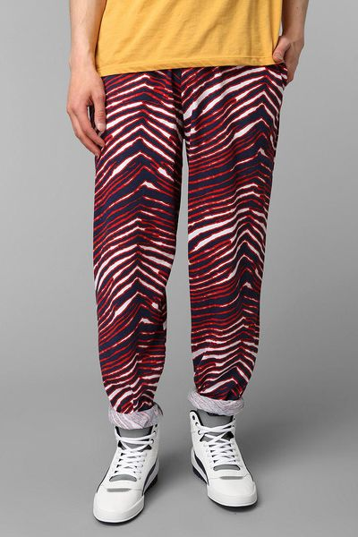 Urban Outfitters Zubaz Red Blue Zebra Pant In Red For Men | Lyst