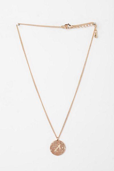 Urban Outfitters Rhinestone Zodiac Necklace in Gold (SAGITTARIUS) | Lyst