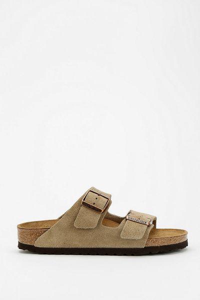birkenstock arizona suede sandal in brown for men taupe. Black Bedroom Furniture Sets. Home Design Ideas