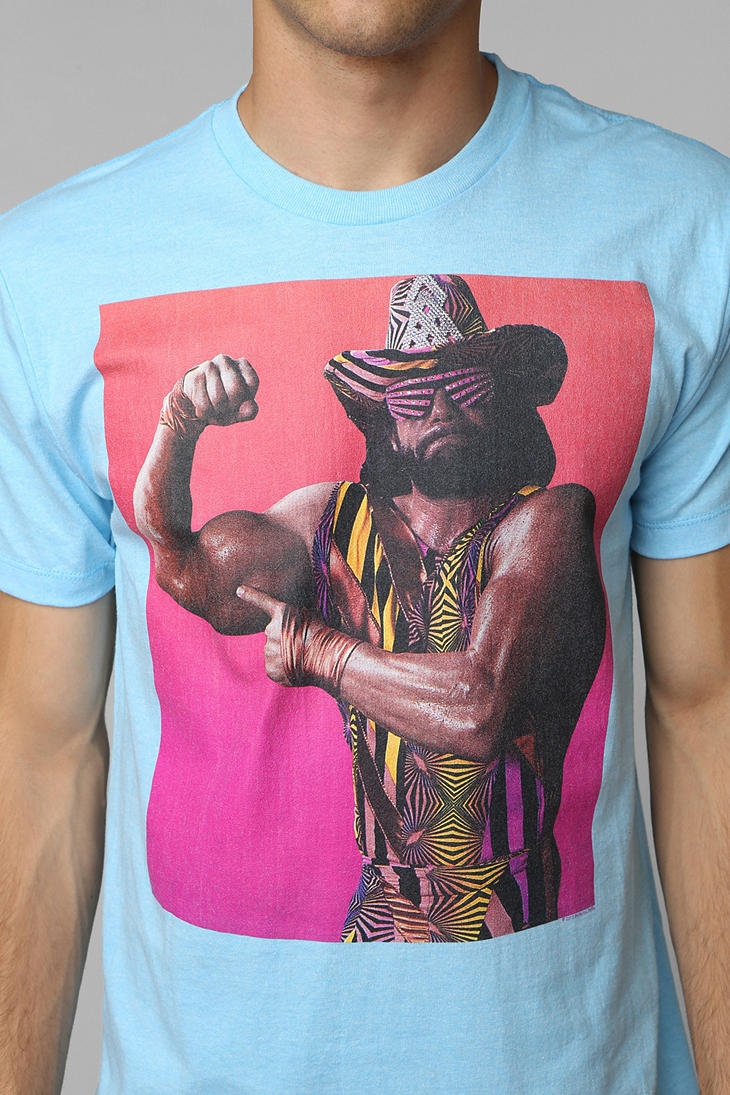 Macho Clothing Co: Urban Outfitters Macho Man Tee In Blue For Men