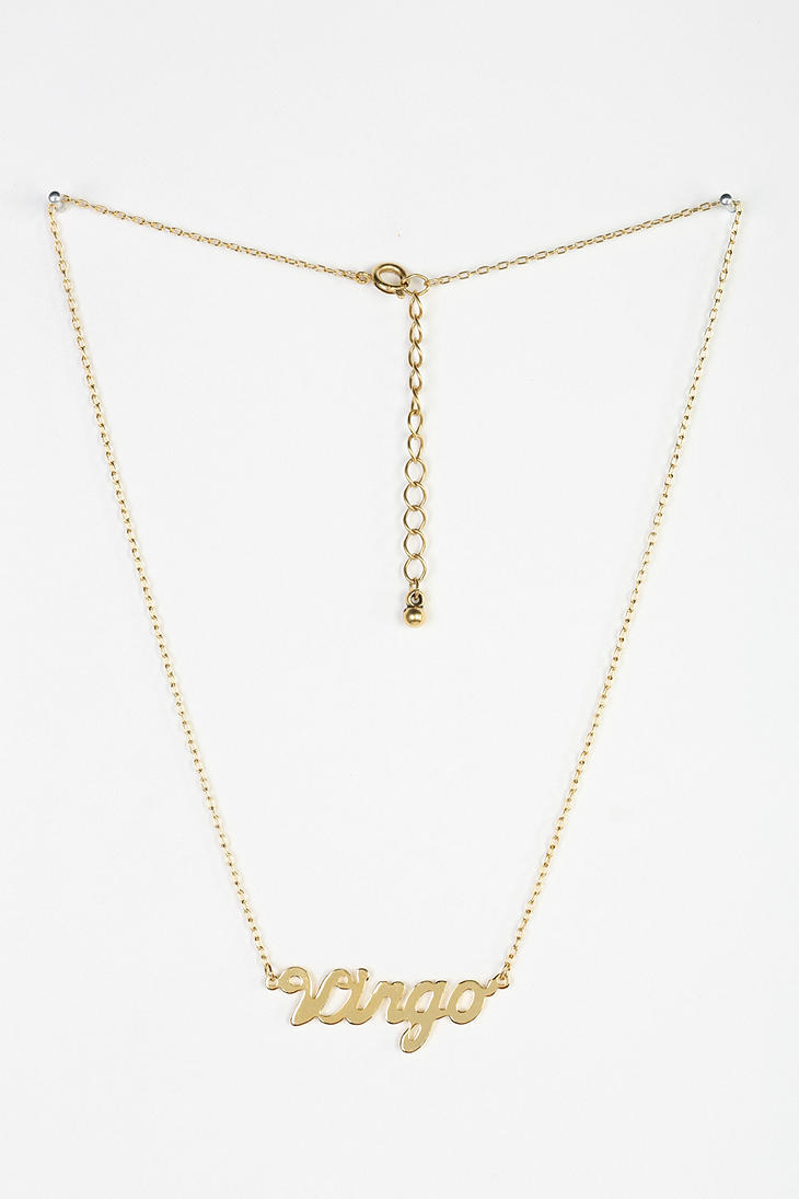 Urban outfitters Zodiac Nameplate Necklace in Metallic | Lyst