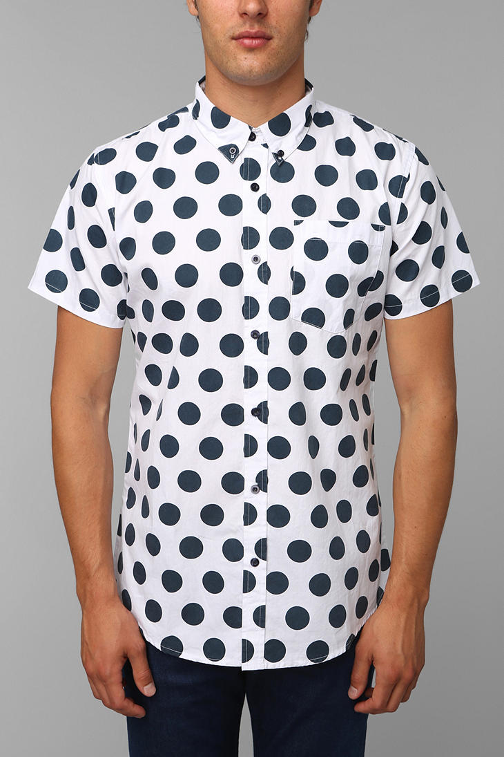0d6f975c7 Urban Outfitters Charles 12 Polka Dot Buttondown Shirt in White for ...