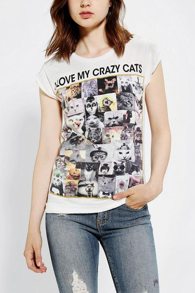 urban outfitters happiness i love my crazy cats tee in