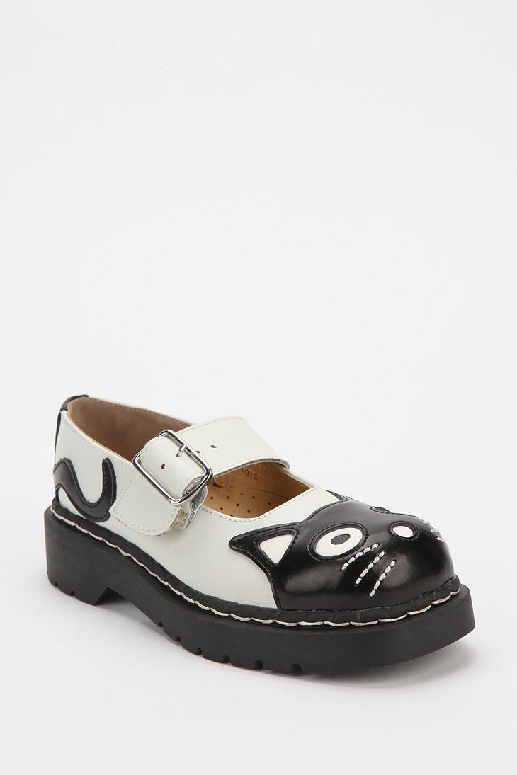 White Flat Mary Jane Shoes