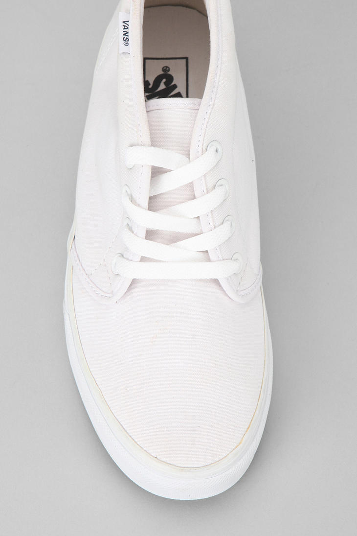 e44b39c12f Lyst - Urban Outfitters Vans Canvas Mens Chukka Boot in White for Men