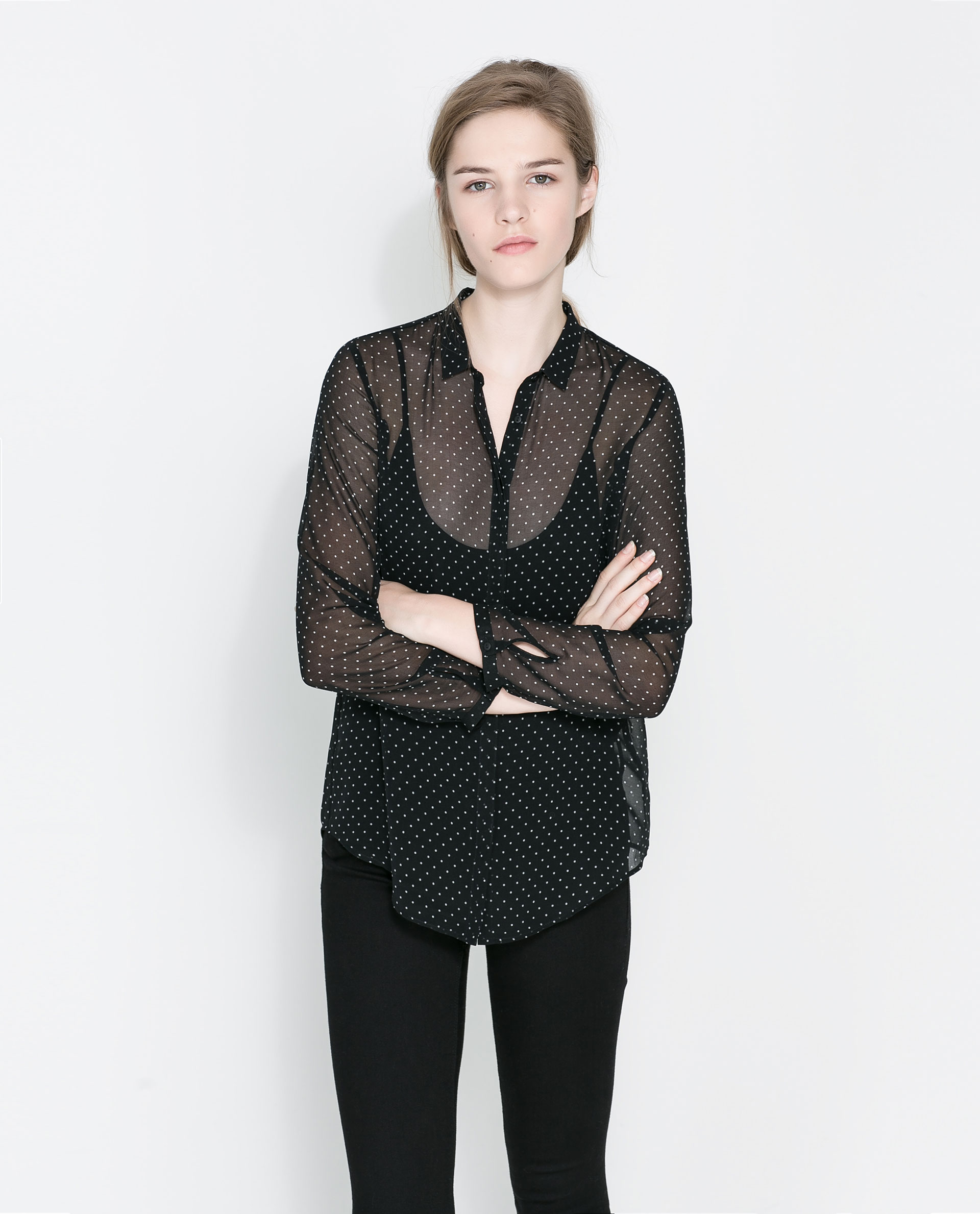 Zara Sheer Black Blouse 47