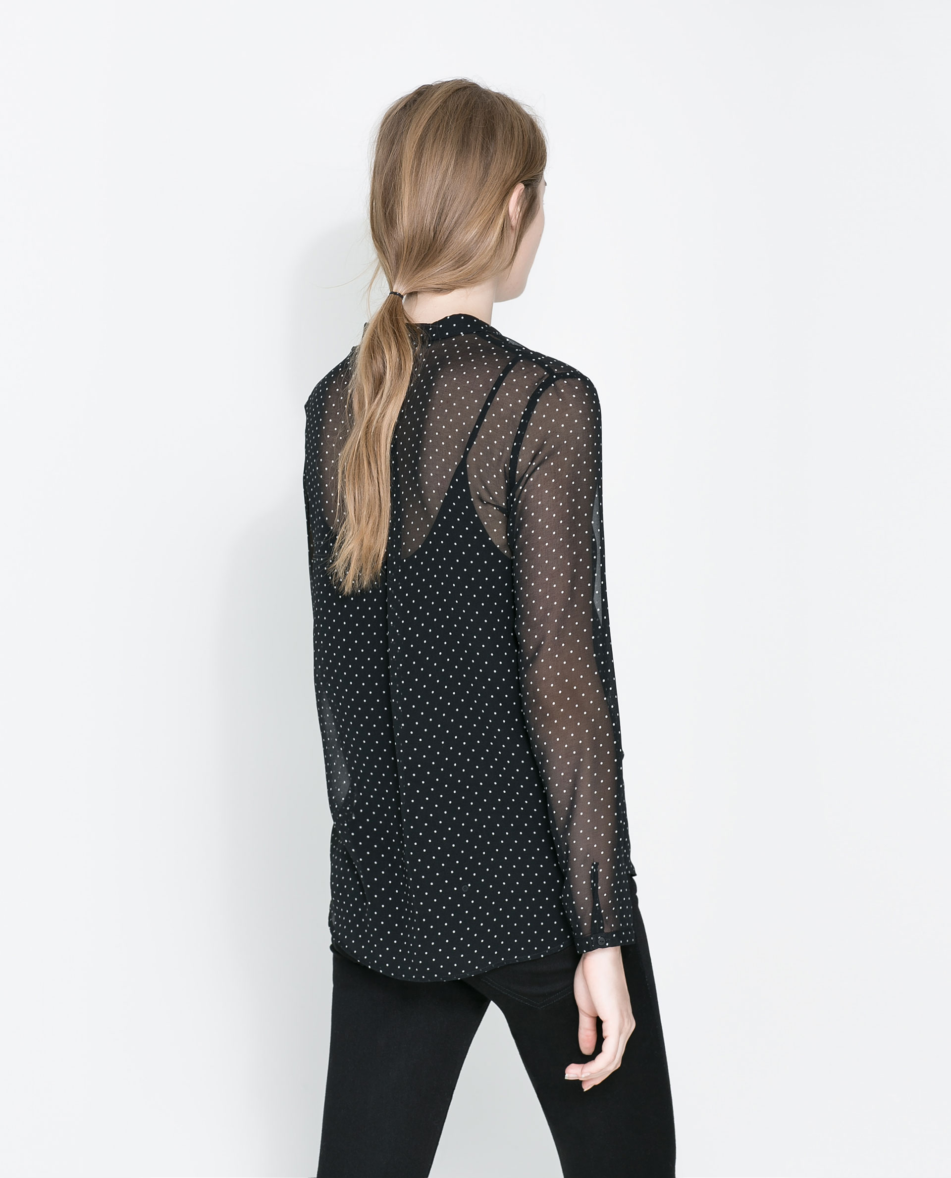 Zara Sheer Black Blouse 14