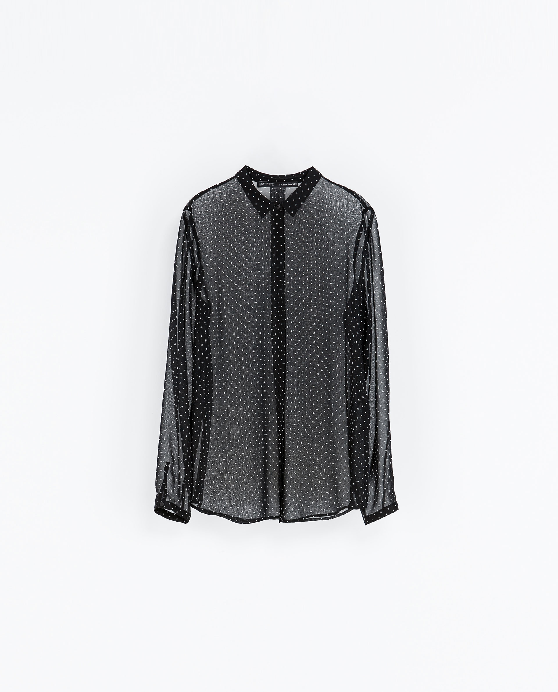 Zara Sheer Black Blouse 11