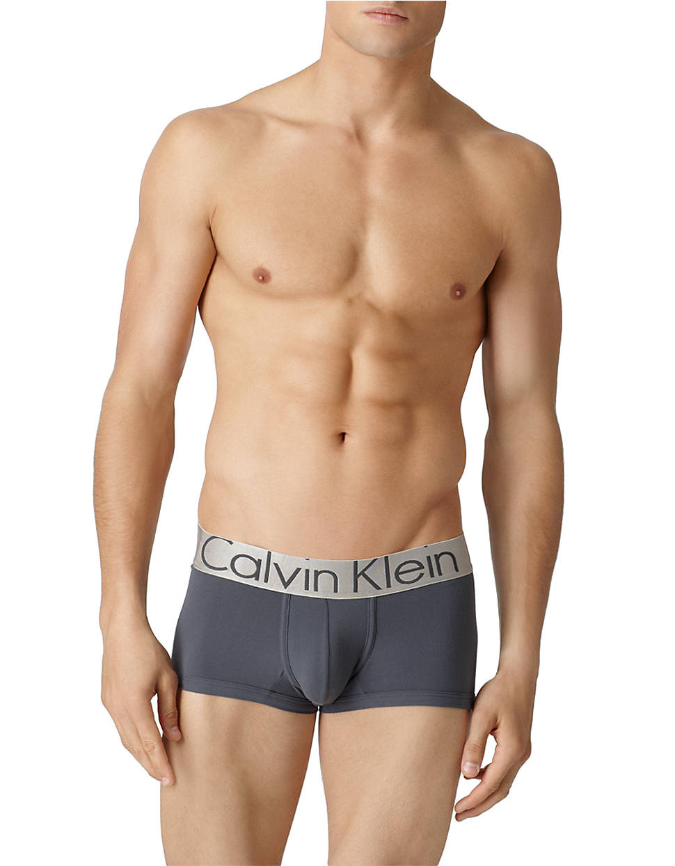 Calvin Klein Steel Microfiber Low Rise Trunk In Gray For Men Lyst Brief Original Gallery