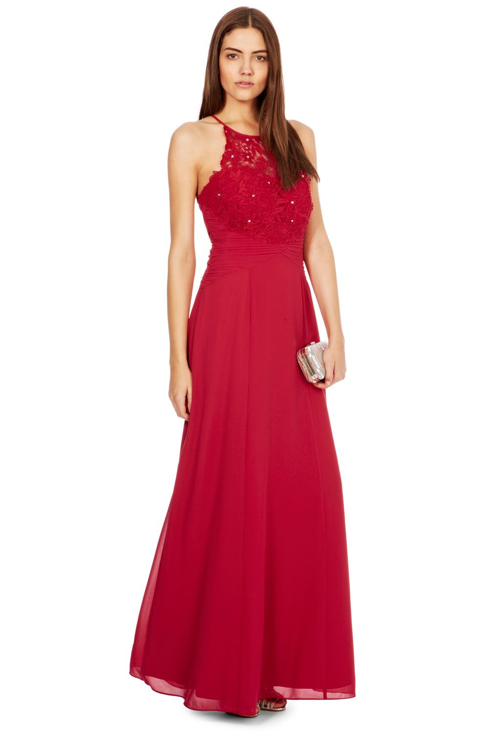 Coast Lana Lace Maxi Dress In Red Lyst