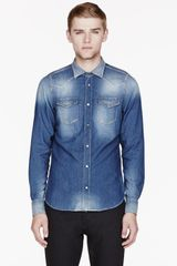 Diesel Blue Denim Faded Sonora_ne Shirt - Lyst