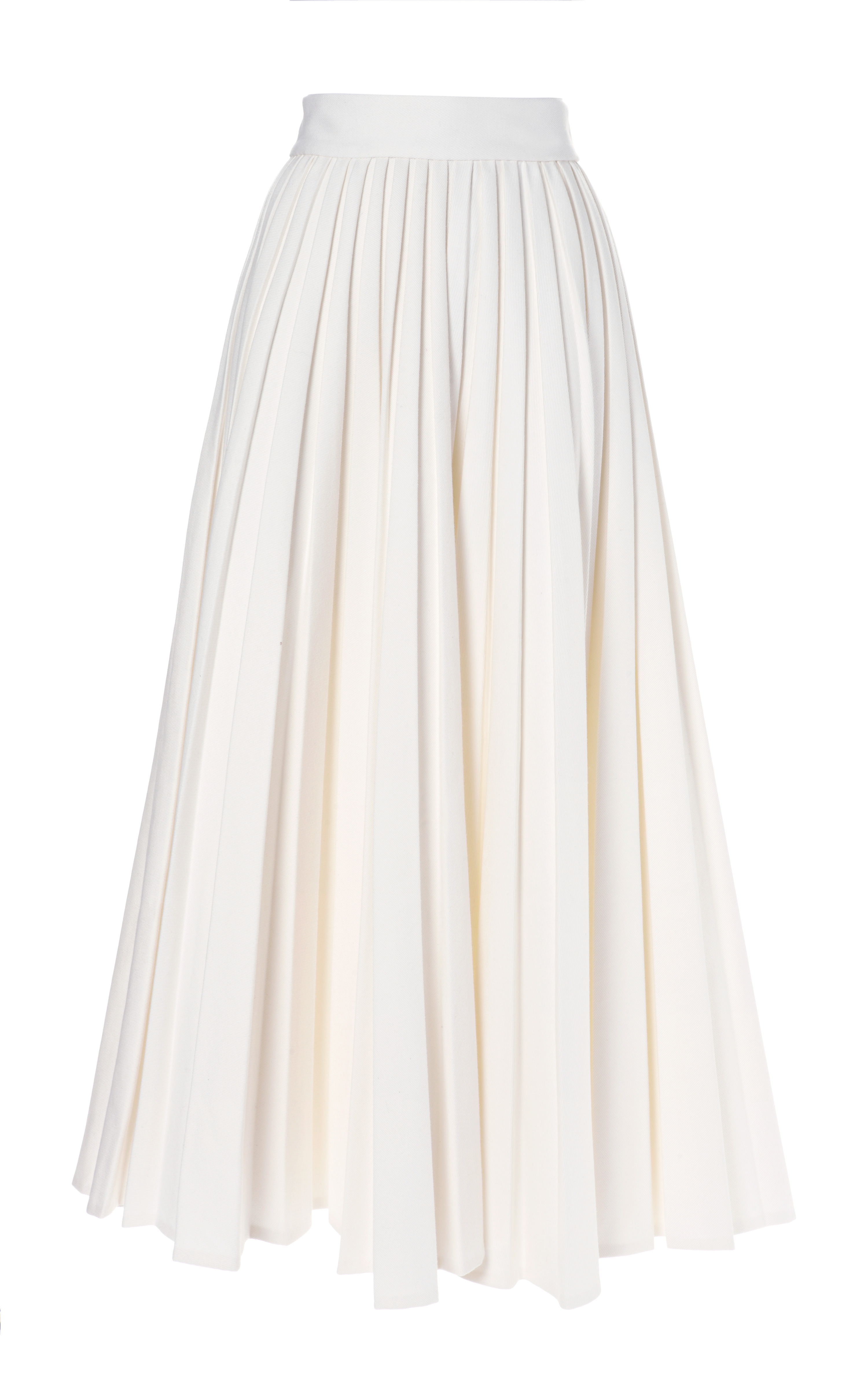 Emilia wickstead Pleated Skirt in White | Lyst
