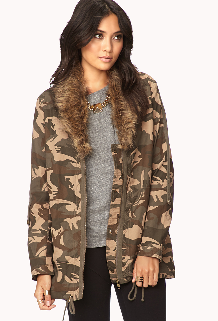 Camo jacket for women