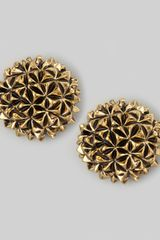 House Of Harlow Mini Crater Stud Earrings - Lyst