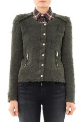 Iro Regan Distressedtweed Jacket - Lyst