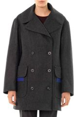 Jil Sander Parigi Doublebreasted Wool Coat - Lyst