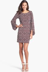 Laundry By Shelli Segal Blouson Sleeve Print Jersey Dress - Lyst