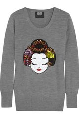 Markus Lupfer Geisha Sequined Merino Wool Sweater - Lyst