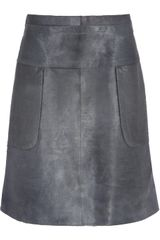 Marni Calf Hair Aline Skirt - Lyst