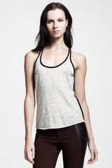 Rag & Bone Racerback Heathered Spine Tank - Lyst