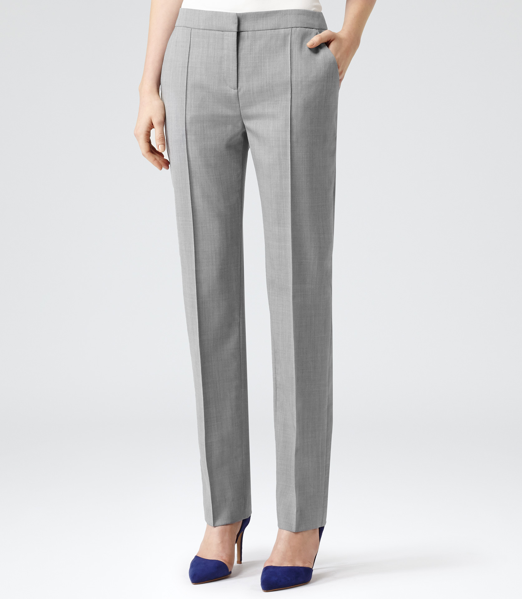Simple Grey Dress Pants For Women For Pinterest