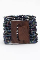 Spring Street Design Group Beaded Cuff - Lyst