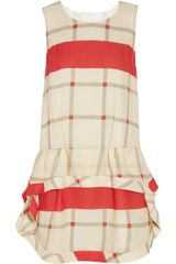 Thakoon Addition Dropwaist Checked Silk Dress - Lyst