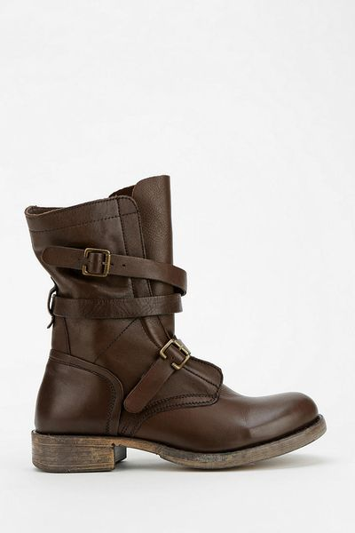 outfitters diba jetway moto boot in brown lyst