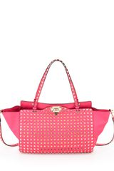 Valentino Rockstud All Over Tote Bag Pink - Lyst