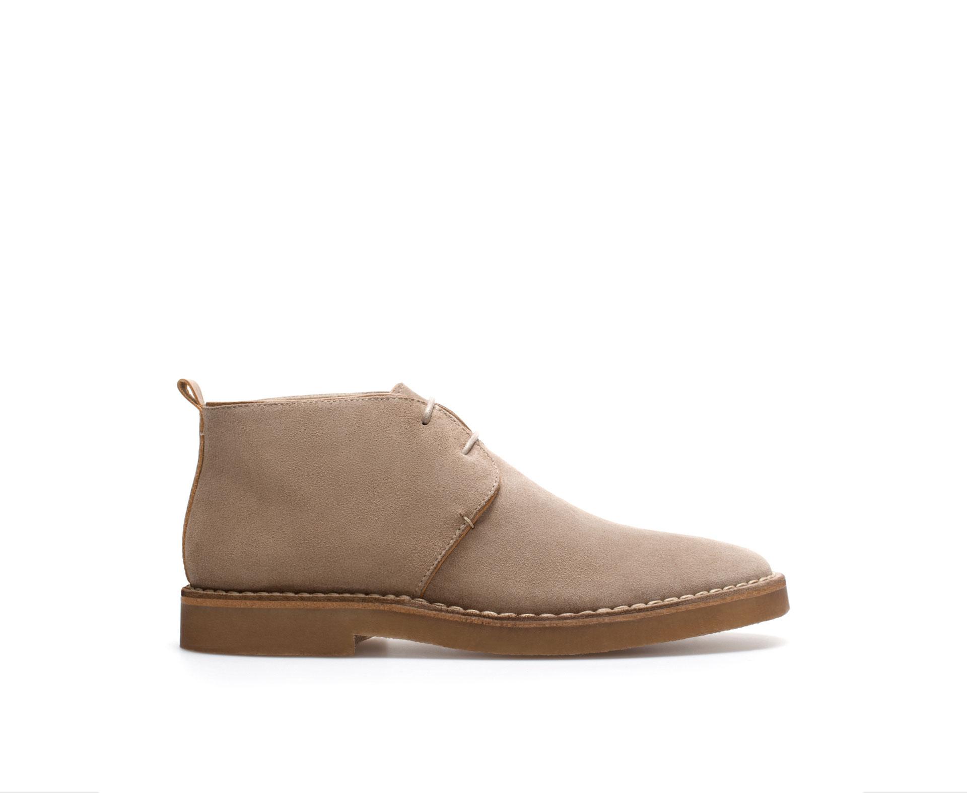 Zara Classic Desert Boot In Natural For Men Lyst