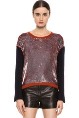 3.1 Phillip Lim Wool Suiting Pullover - Lyst