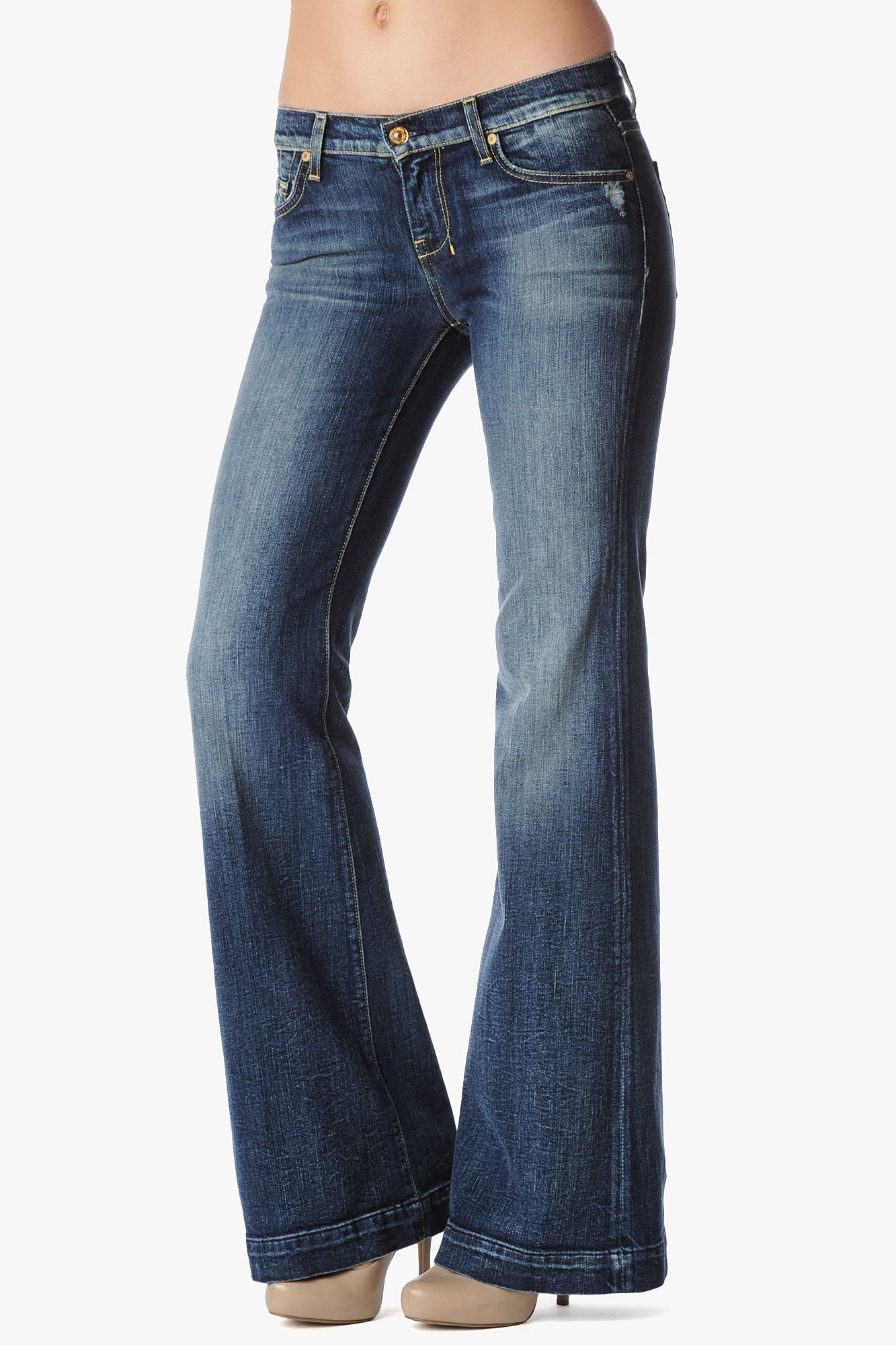 7 for all mankind Vintage 7 Collection Dojo Orig in Blue | Lyst