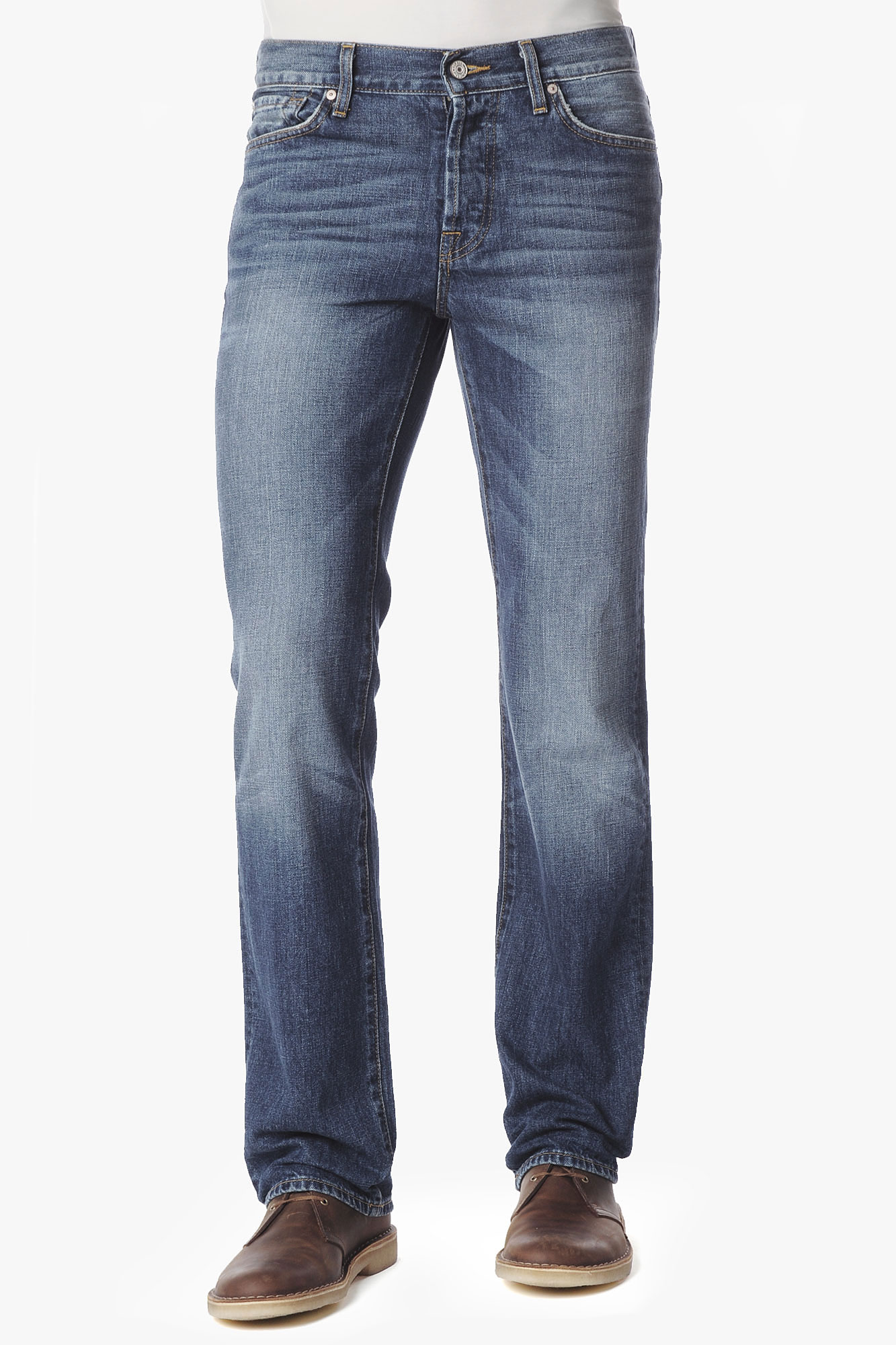 7 for all mankind Standard Classic Straight Leg with Flynt Pocket ...