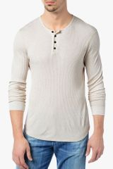 7 For All Mankind Fine Ribbed Henley