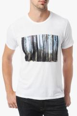 7 For All Mankind Tree Tee - Lyst