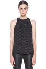A.L.C. Lacett Printed Double Face Silk Top - Lyst