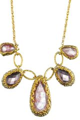 Alexis Bittar Floral Gold Linked Imi Pink Tourmaline Necklace - Lyst