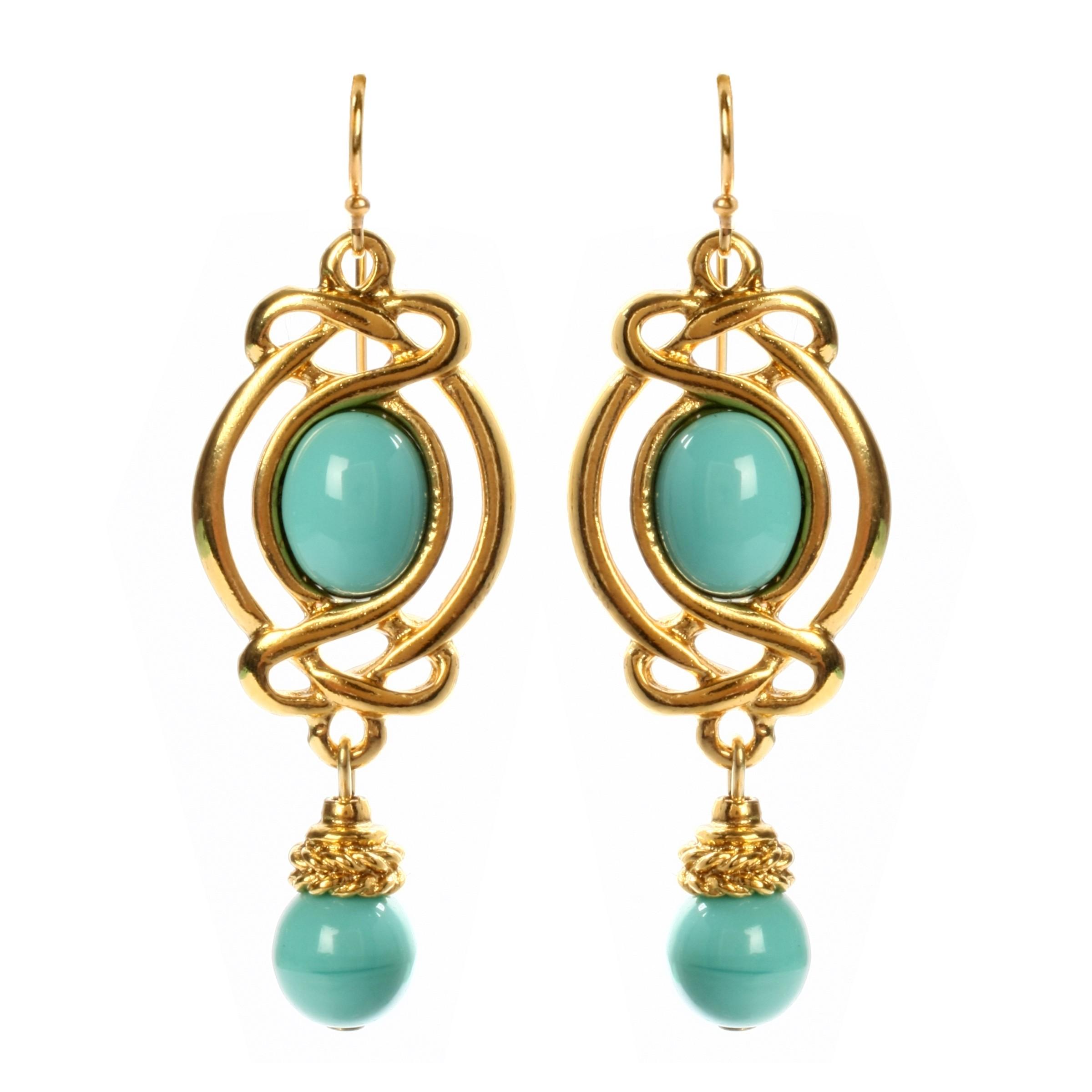 Ben Amun Vintage Inspired Turquoise Earrings in Green ...
