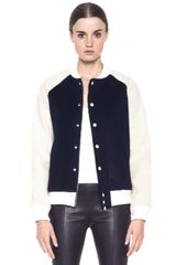 Boy by Band Of Outsiders Shearling Varsity Jacket - Lyst