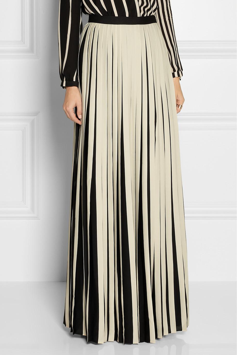 by malene birger ishrat striped crepe de chine maxi skirt