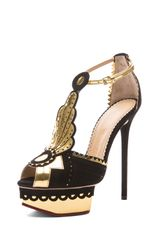 Charlotte Olympia Sunset Art Deco Applique Heel - Lyst