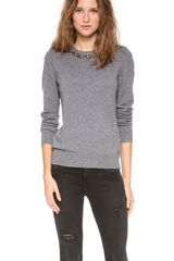 Equipment Shane Embellished Neck Sweater - Lyst