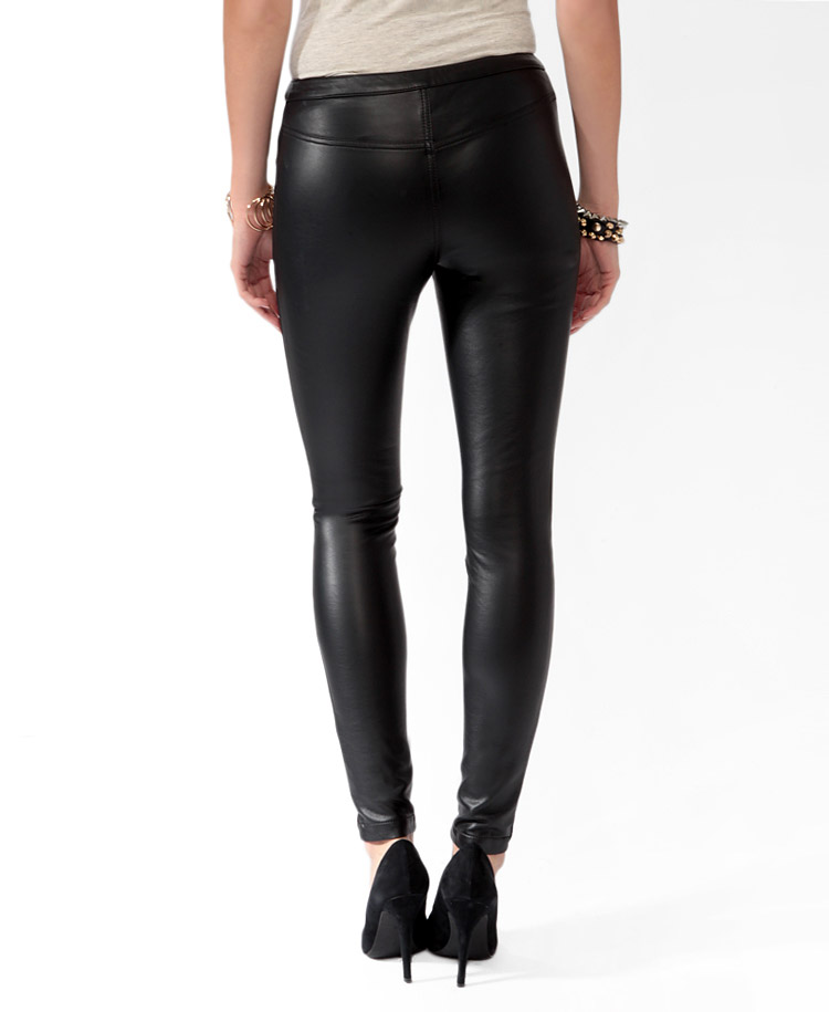 Luxury Women Clothing Pants Skinny Forever 21 Skinny Forever 21 Faux Leather