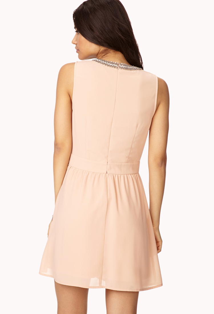 Lyst - Forever 21 Cocktail Hour Beaded Dress in Pink