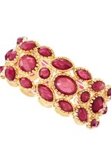 Fragments Threerow Gem Stretch Bracelet Fuchsia - Lyst