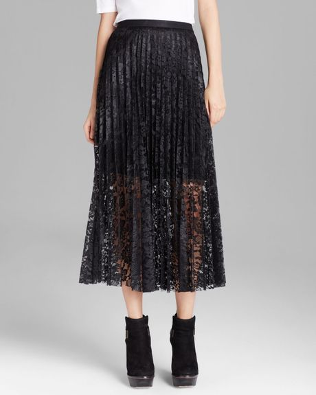free maxi skirt coated perma lace pretty pleats in