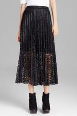 Free People Maxi Skirt Coated Perma Lace Pretty Pleats - Lyst