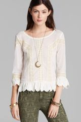 Free People Top Sheer Batiste Princess Gwendoline - Lyst